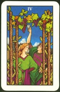 Tarot Guidance for Friday 22 March 2019: 4 of Wands —