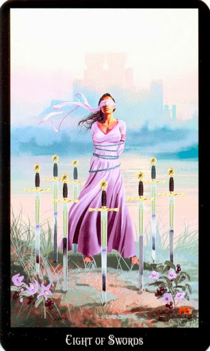 Tarot for Today - 8 of Swords - Sunday, June 30, 2019 – Tarot by Lady Dyanna