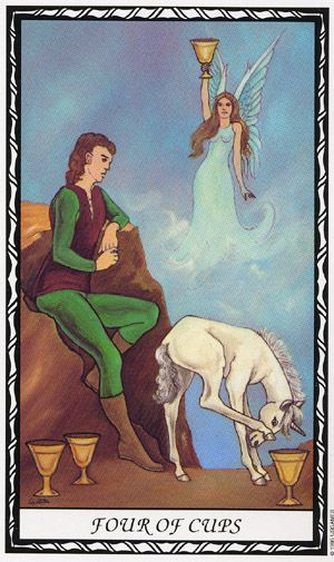 Tarot Guidance for Saturday 22 February 2020: 4 of Cups —